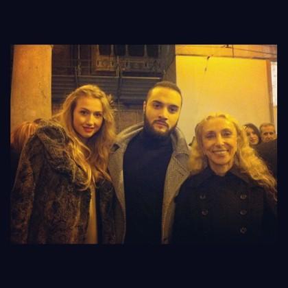 Modelo, Andrea Cimatti y Franca Sozzani, Editor in Chief VOGUE ITALIA
