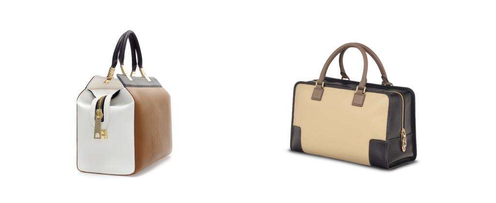 Izquierda: Bolso de la nueva Colección de Zara mujer. Comparado a la Derecha con: Amazona de Loewe del que hablamos en la primera parte de la entrada. (www.zara.com)