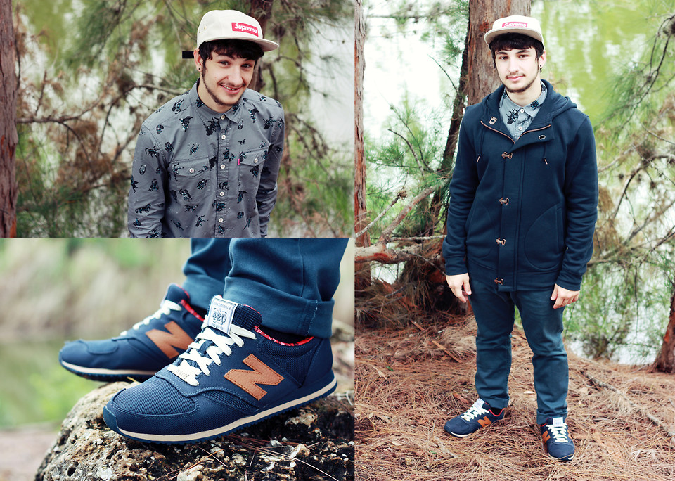 new balance con jeans hombre