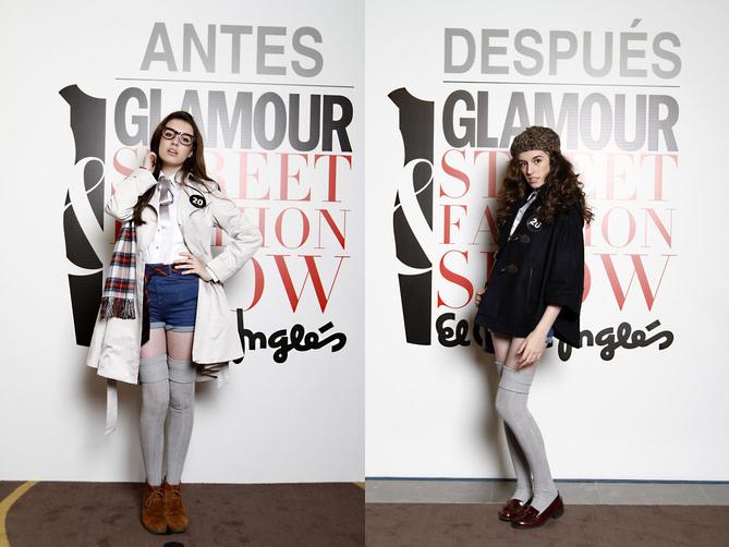 El antes y después del estilo de Leyre Barriocanal. (www.glamour.es).