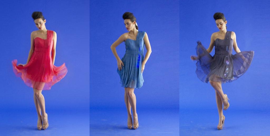 Elegante K-dress en diferentes colores. www.cutecircuit.com