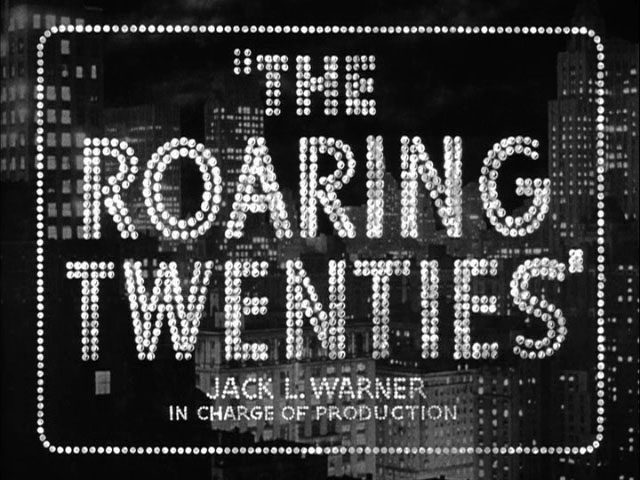 "Cartel de la película ""The Roaring Twenties"" producida por Jack L. Warner."