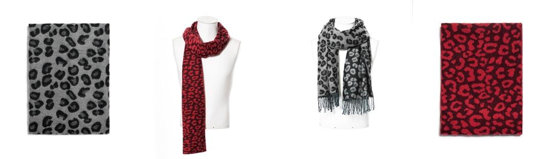 Bufandas con estampado de leopardo. Sección Hombre de Zara. (zara.com).