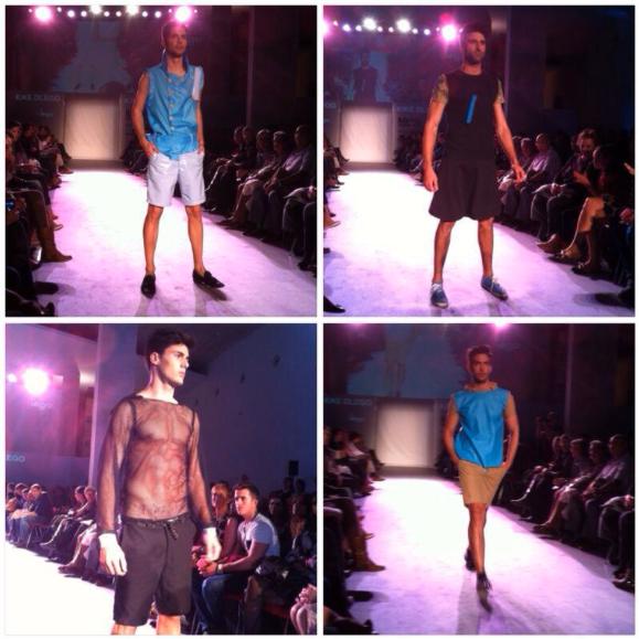 Modelos con la confección de Kike Dlego. (fotografía de Navarra Fashion Week).