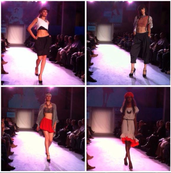 Modelos con los diseños de Ilazki. (fotografía de Navarra Fashion Week).