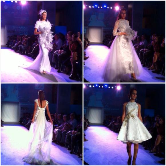 Vestidos de novia de los diseñadores Manuel & Ariana.  (fotografía de Navarra Fashion Week).