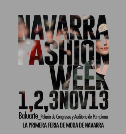 Cartel de Navarra Fashion Week 2013.