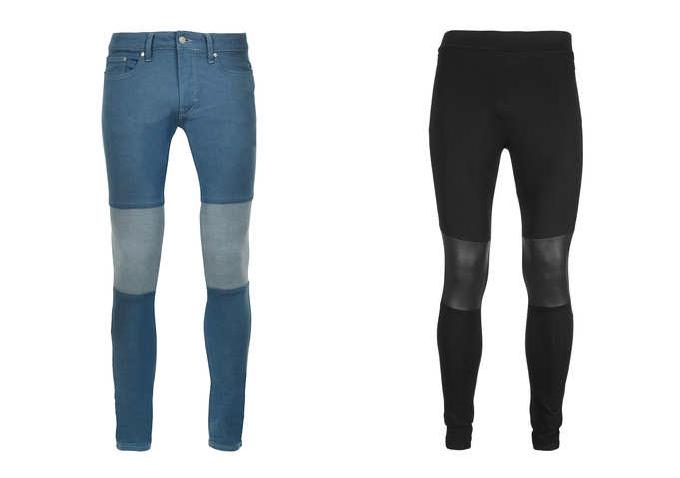 Meggings de Topman, modelo azul y negro. topman.com