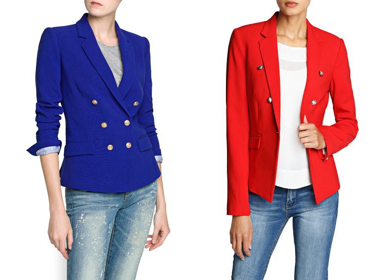 Americanas en Azul Eléctrico y Rojo Cayena de Mango