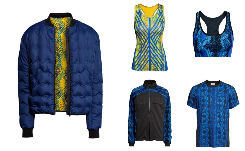 Bomber de plumas reversible, tops de mujer y chaqueta y camiseta de hombre, Colección Go Gold de H&M