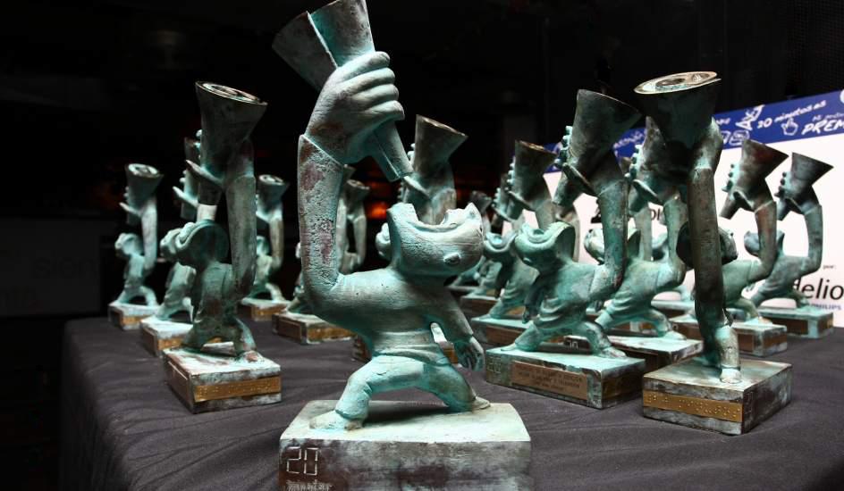Estatuillas de los premios 20Blogs. Fotografía del diaro 20minutos