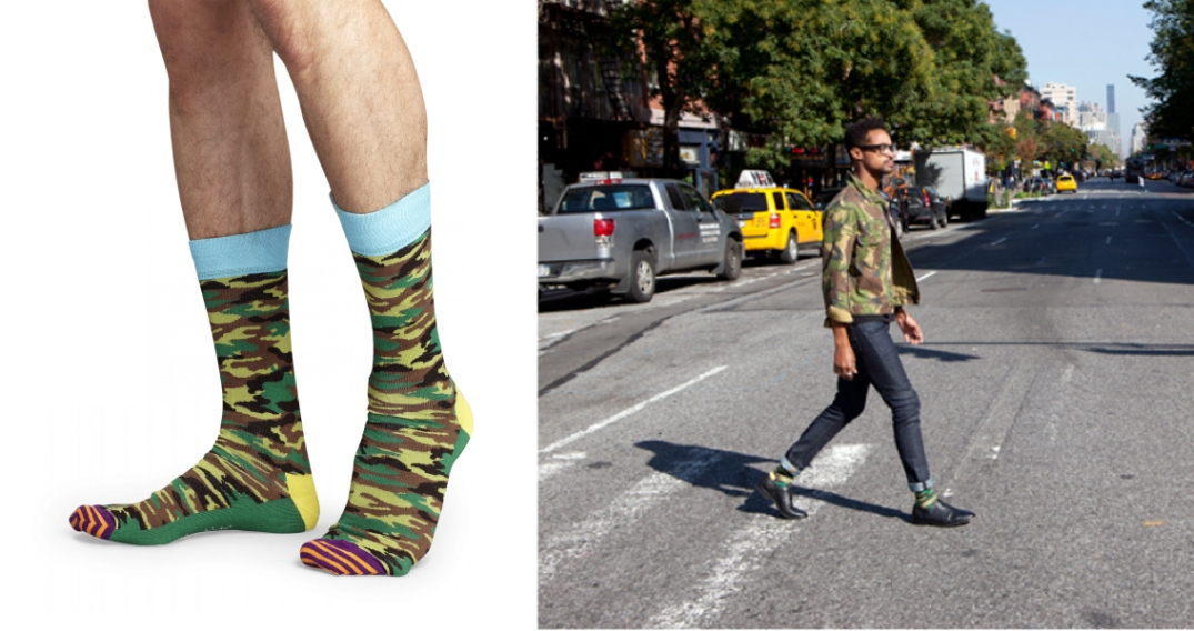 Happy Socks, estampado camuflaje