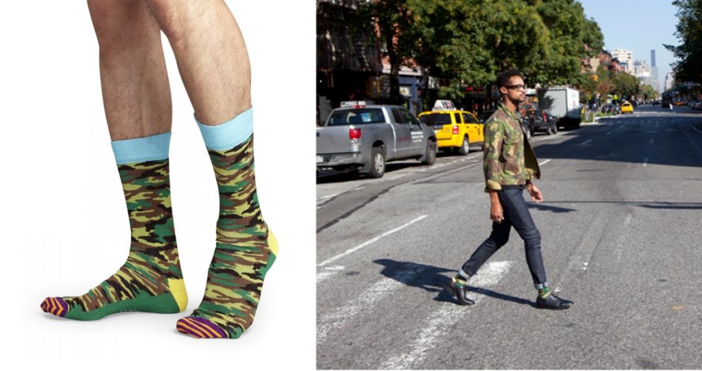 Happy Socks, estampado camuflaje