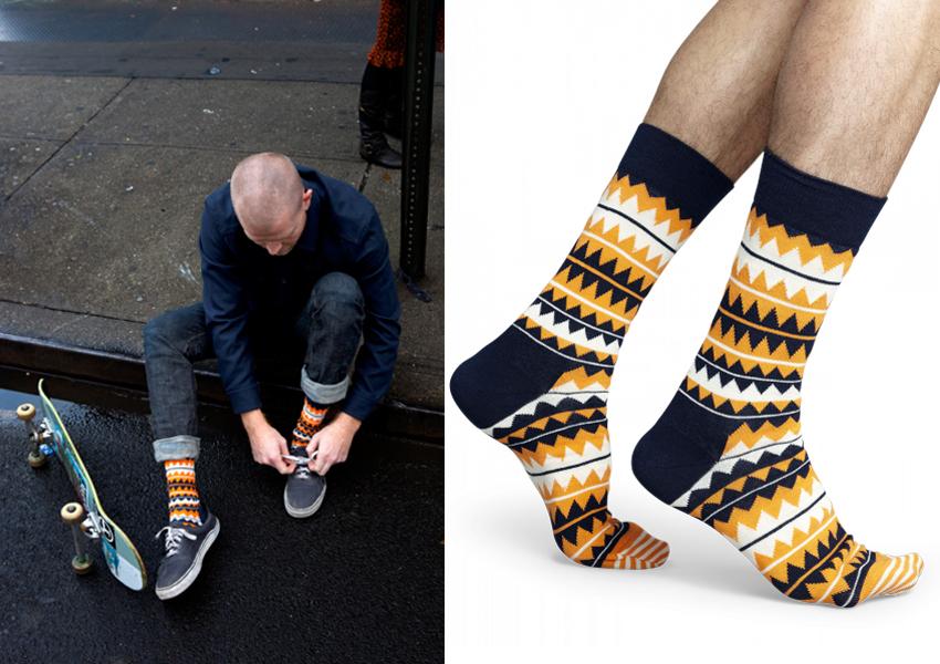 Happy Socks, estampado geométrico