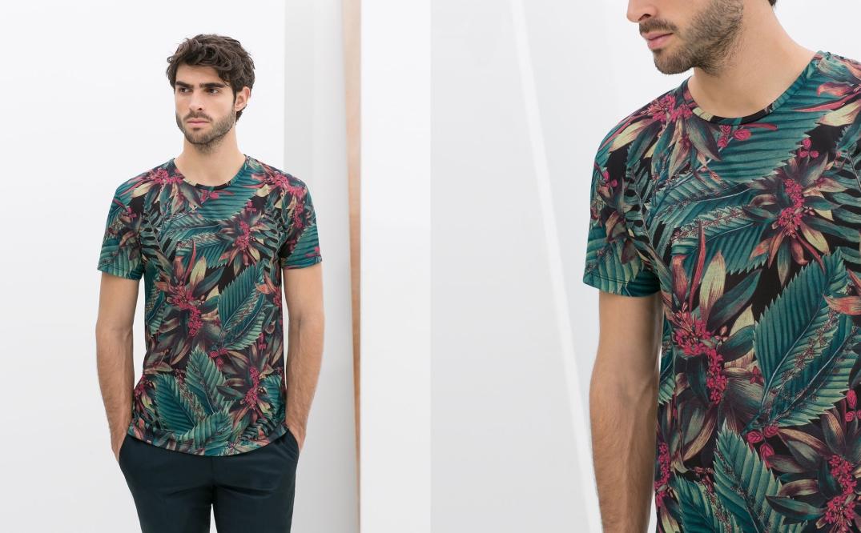 Camiseta estampada de Zara.