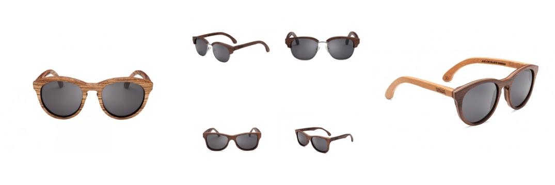 Gafas de Palens en Nogal y Cerezo en dieferentes modelos y texturas