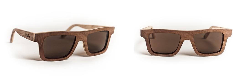 Gafas de WoodGlass de Corte Indie en Nogal