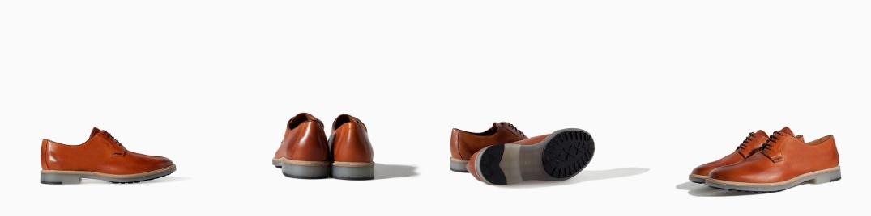 Zapatos Blucher de Zara en Cuero Marrón con suela opaca en mate