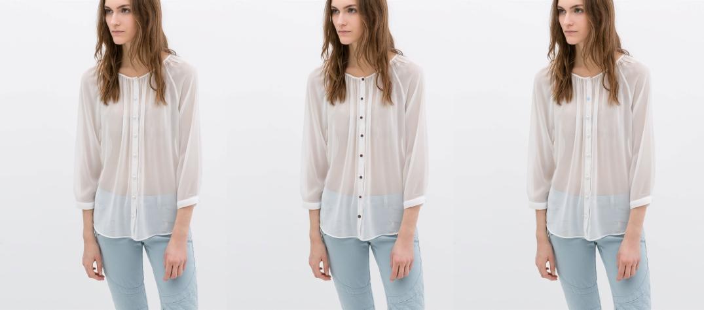 Blusa de Zara (Izquierda color original).