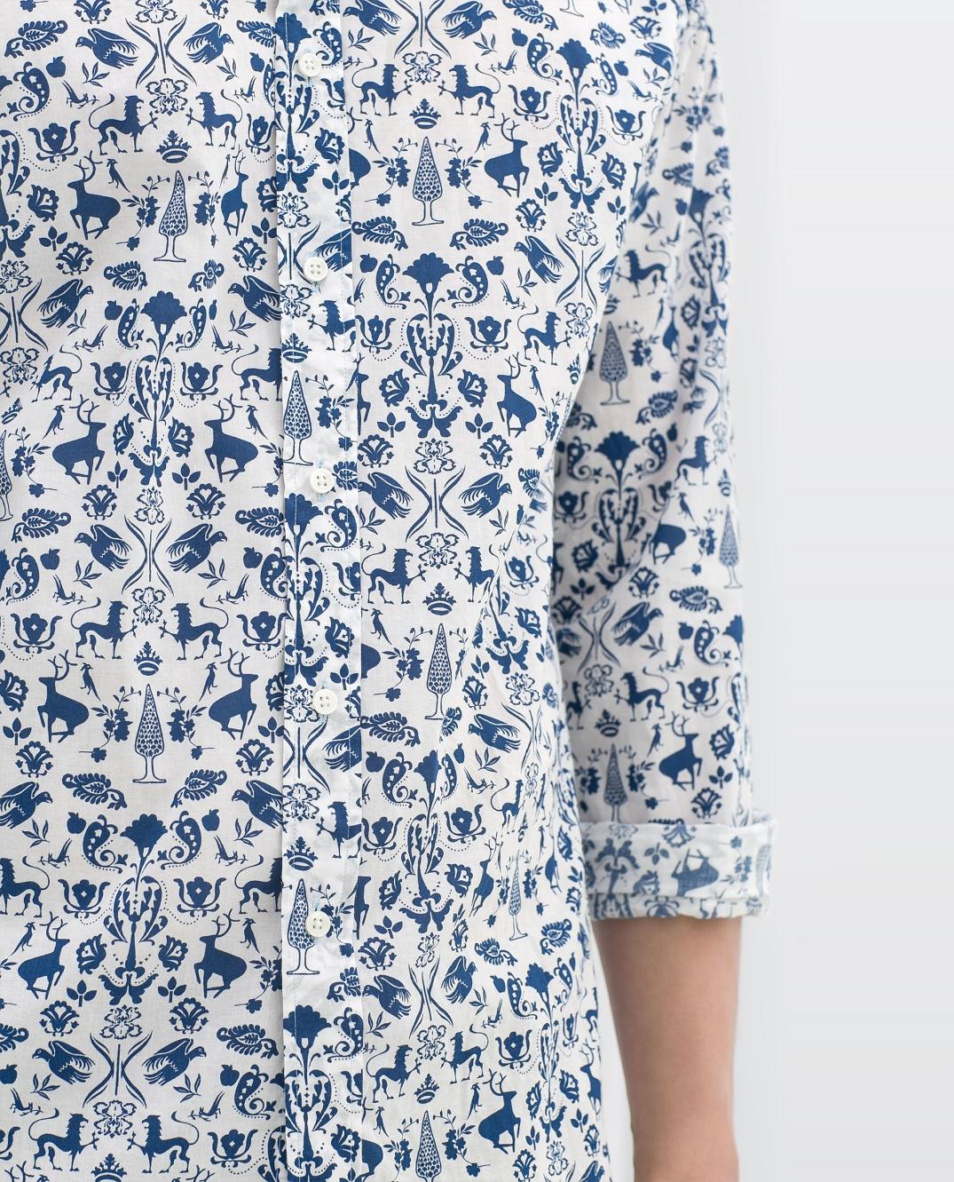 Camisa estamapada de Zara