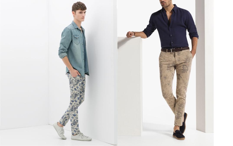 Pantalones de Zara (izq.) y Massimo Dutti (Drch.) con estamapado floral