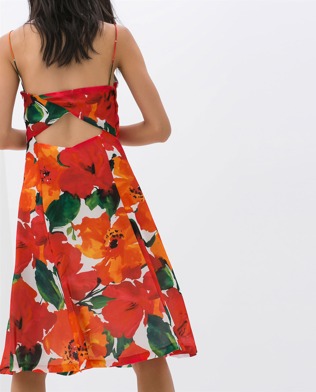 Vestido estampado de Zara