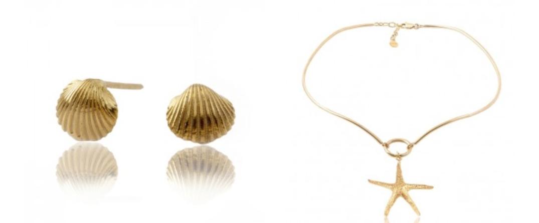 Pendientes Calipso Santiego y Collar Adrienne Starfish.